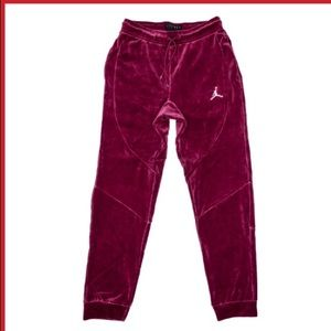Men's Jordan Bordeaux velour drawstring Pants,NWT!
